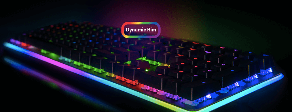 Rosewell mechanical keyboard with dynamic rim