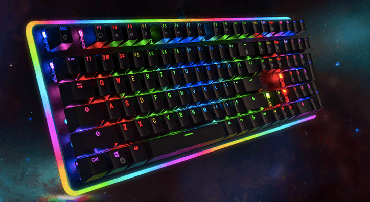 rosewell mechanical keyboard with 22 pre-programmed backlight modes