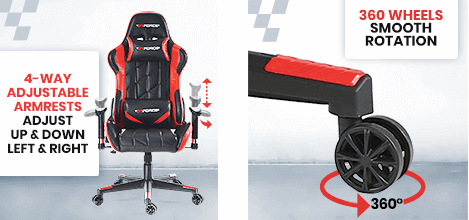 GTFORCE PRO GT with rotation wheels and armrest