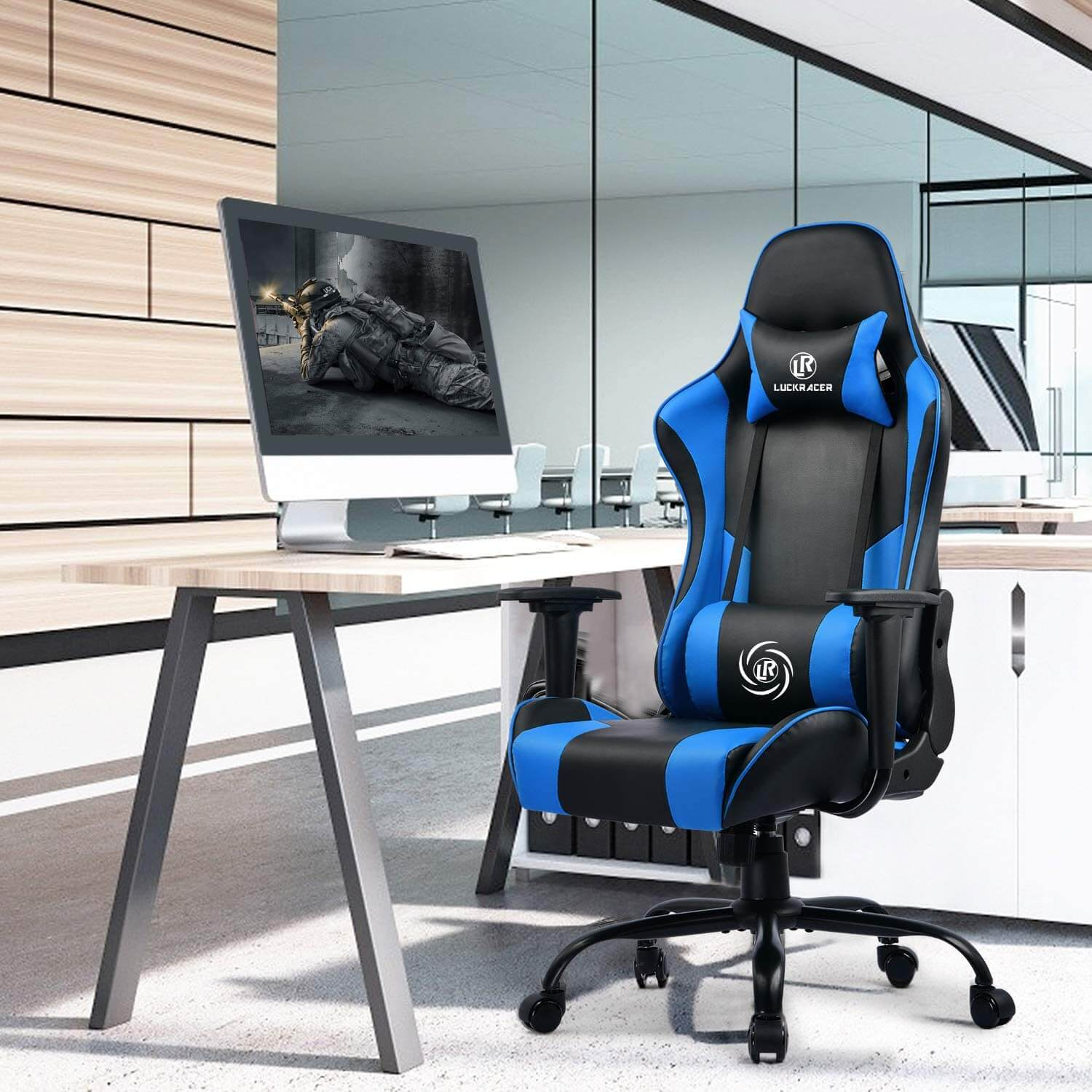 LUCKRACER budget chair with ergonomic design