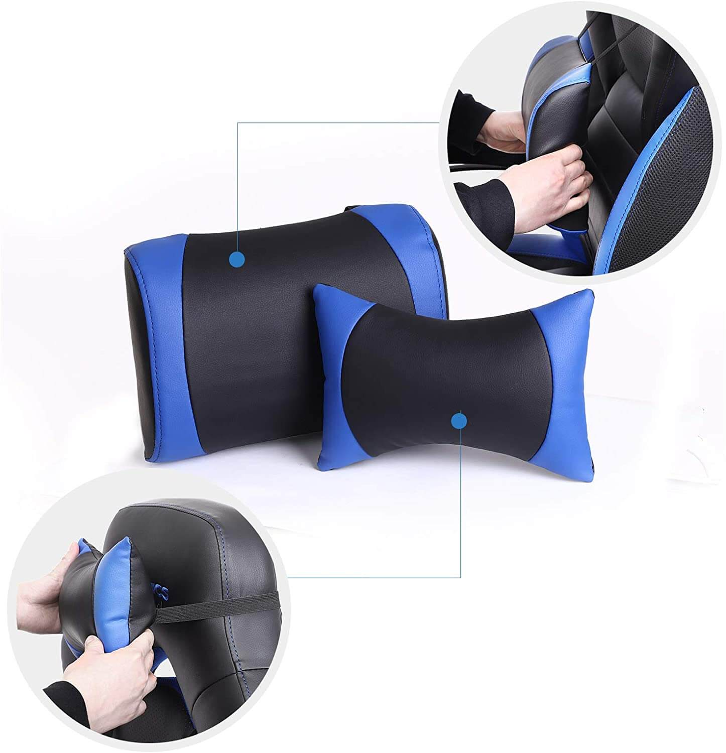 Songmics chair with comfy seat cushion s and neck padding