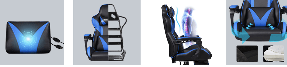 YOURLITEAMZ premium racing chair with back support