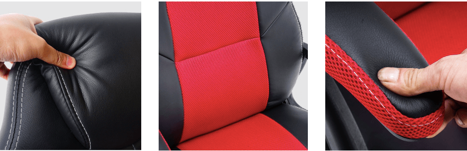 play haha chair unde 100 with head pillow and mesh leather