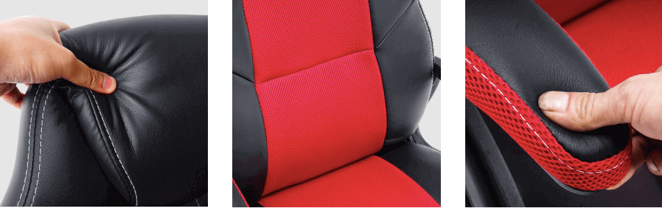 play haha chair with Breathable mesh fabric and hedrest
